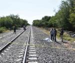 Atropellado por el tren pierde hombre la vida