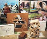 Presentan expo de obras de arte de David Alcantar