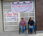 Se declaran en huelga de hambre; no les pagan en CBTIS 164