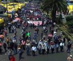 Marcha CNTE contra Informe de Peña Nieto