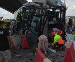 Cuatro muertos deja accidente de autobús en España