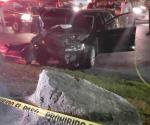 Muere Policía Federal en choque contra una palmera
