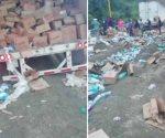 Arrolla tráiler a cuatro personas durante rapiña en Veracruz