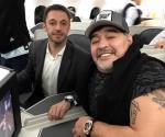 Armando Maradona llega de buen ánimo