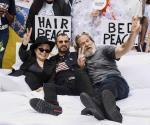 Recrean ´cama de la paz
