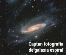 Captan fotografía de galaxia espiral