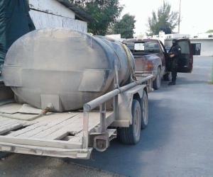 Incautan camionetas, armas y 22 mil litros de combustible, en Río Bravo