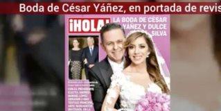 Boda de César Yáñez y Dulce Silva, portada de prensa fifí