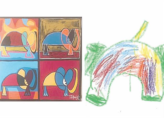 Niños pintan su mundo desde una celda