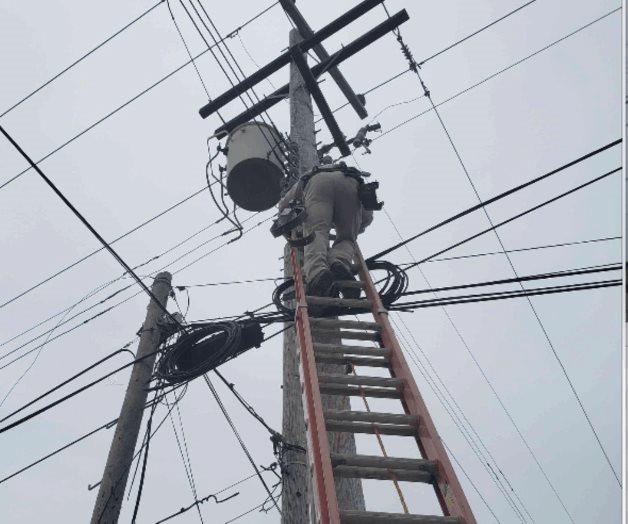Realiza personal de CFE mantenimiento en líneas