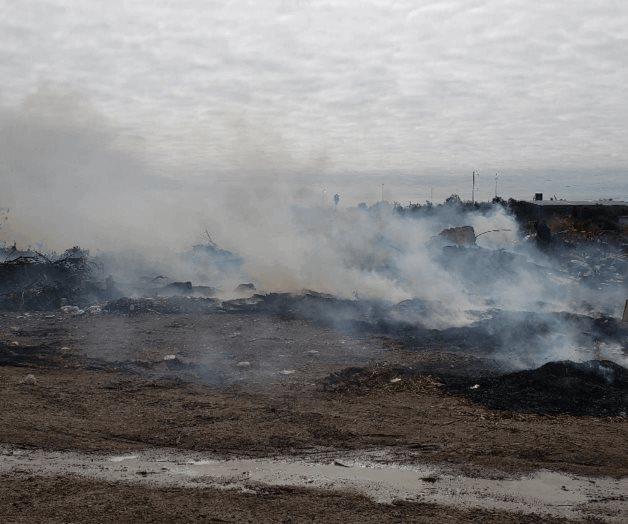 Siguen quemando basura en tiradero