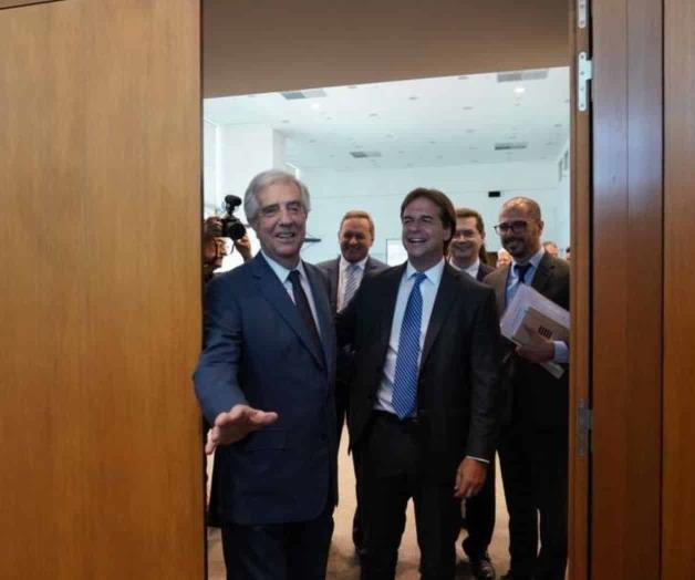 Presidente de Uruguay recibe a Luis Lacalle Pou