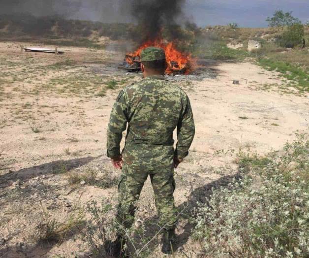 Fuera del protocolo habitual, Sedena quema droga incautada