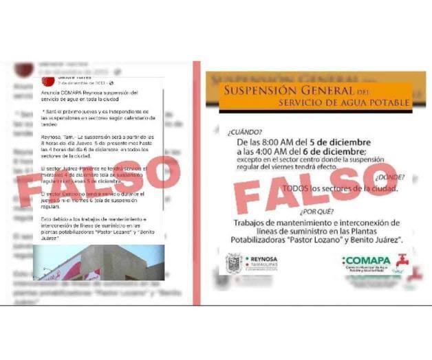 Suspensión de agua, fake news: Comapa