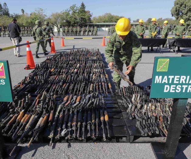 Llama a combatir tráfico de armas
