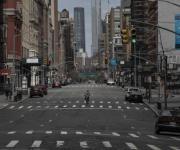 Calles de Nueva York lucen vacías por contingencia del COVID-19