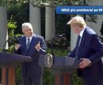 Destacan AMLO y Trump puesta en marcha del T-MEC
