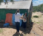 Llevan despensas a poblado Empalme