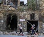 Protestan en Beirut por explosión; líderes muestran apoyo