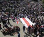 Miles protestan por muerte de manifestante en Bielorrusia