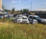 Persecución y balacera culmina en accidente vial