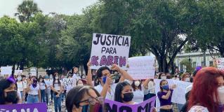 Claman justicia por Karem en Matamoros