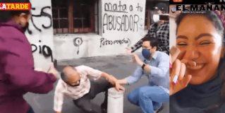"""El colectivo feminista """"Brujas de Agua"""" se manifestó violentamente en Palacio Municipal de Tampico"""
