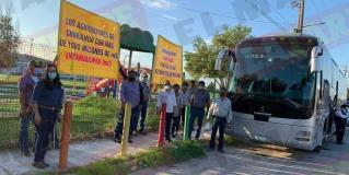 Emprende caravana de protesta hasta la Conagua de Monterrey