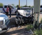 Fuerte accidente de autos deja lesionados de consideración