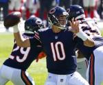 Trubisky lanza dos pases de TD, Bears vencen 17-13 a Giants
