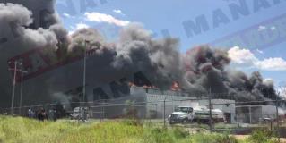 Causa gran movilización incendio de maquiladora