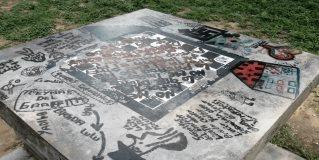 Vandalizan mobiliario de la Plaza Treviño Zapata