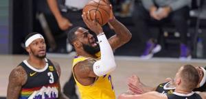 Lakers, a un juego de Las Finales; vencen 114-108 a Nuggets de Denver y ponen la Serie 3-1.