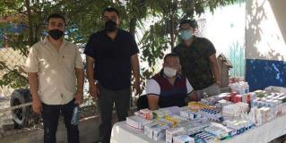 Llevan brigada médica a la Azteca