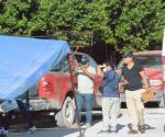 Prensado entre camionetas