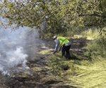 Combaten incendio en colonia Argüello