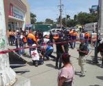 Cae espectacular sobre 5 niños y 2 mujeres; todos lesionados