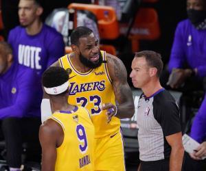 Lakers se llevan el Juego 1 de las Finales; vencen 116-98 al Heat.