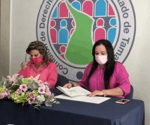 Firman convenio de colaboración entre las asociaciones y Codhet